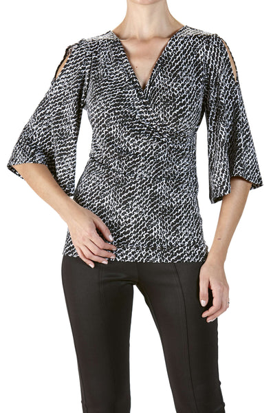 Women's Tops on Sale Black and White Flattering Fit - Made in Canada
