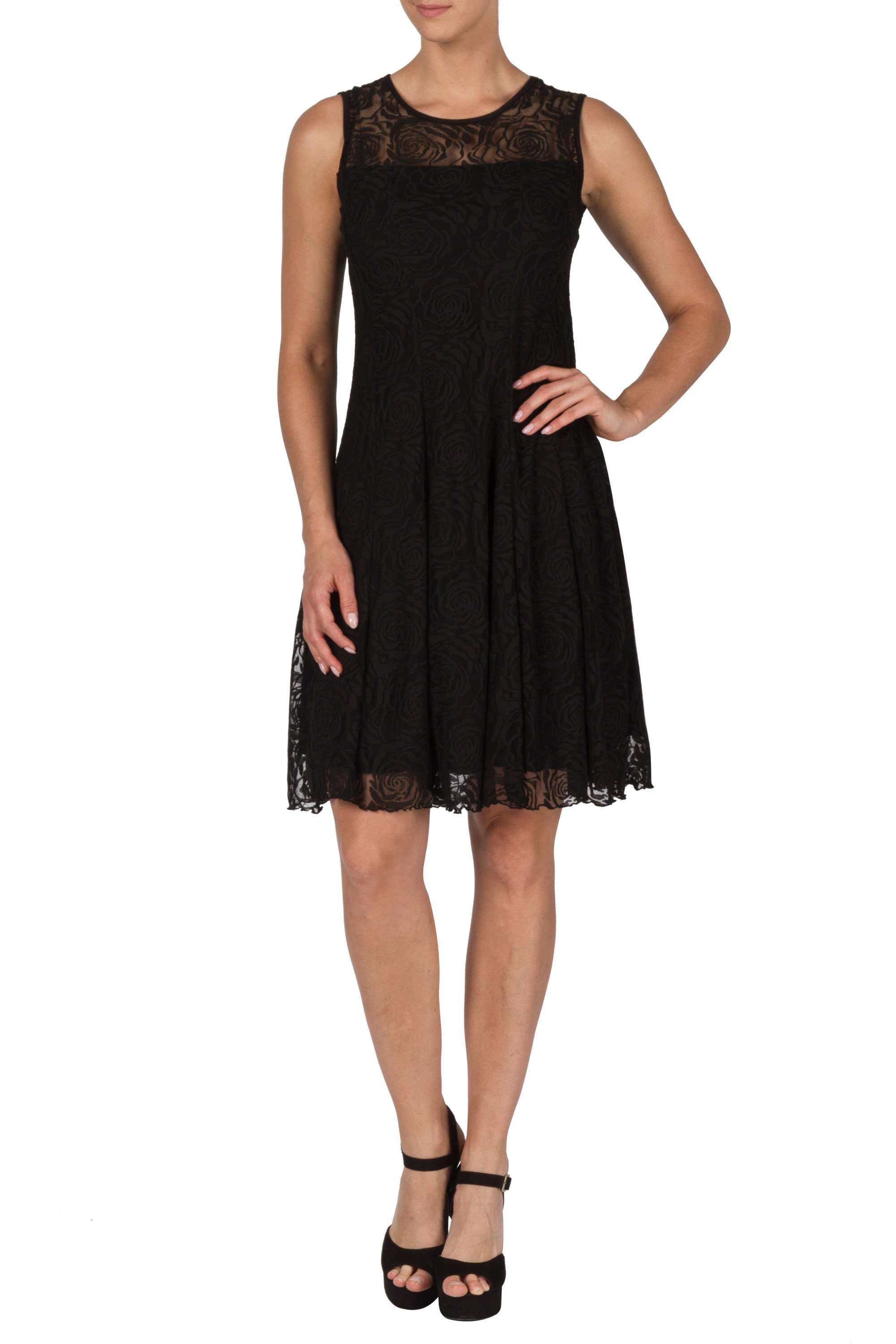 Women's Black Lace Dress-Made In Canada-Shop Local - Yvonne Marie