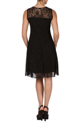 Black Lace Designer Dress - Yvonne Marie