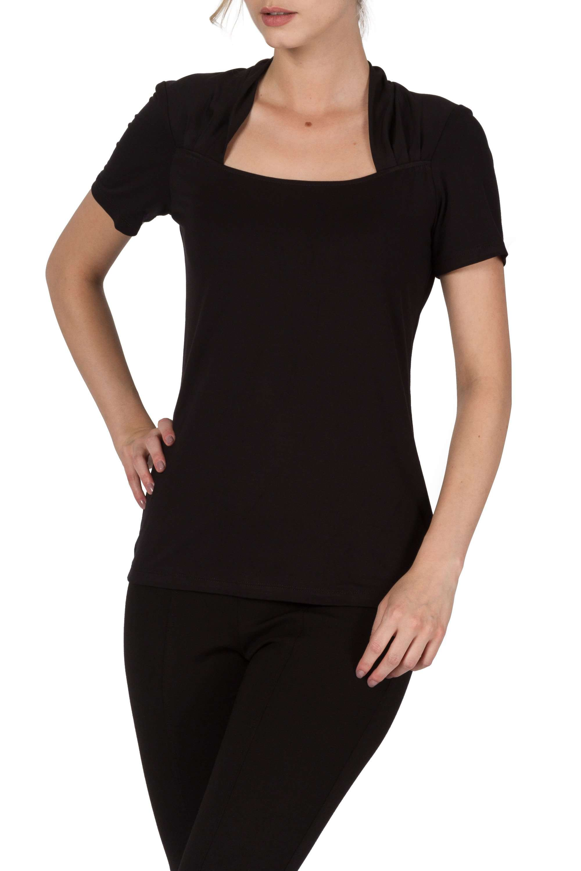 Black Top With Sweetheart Neckline
