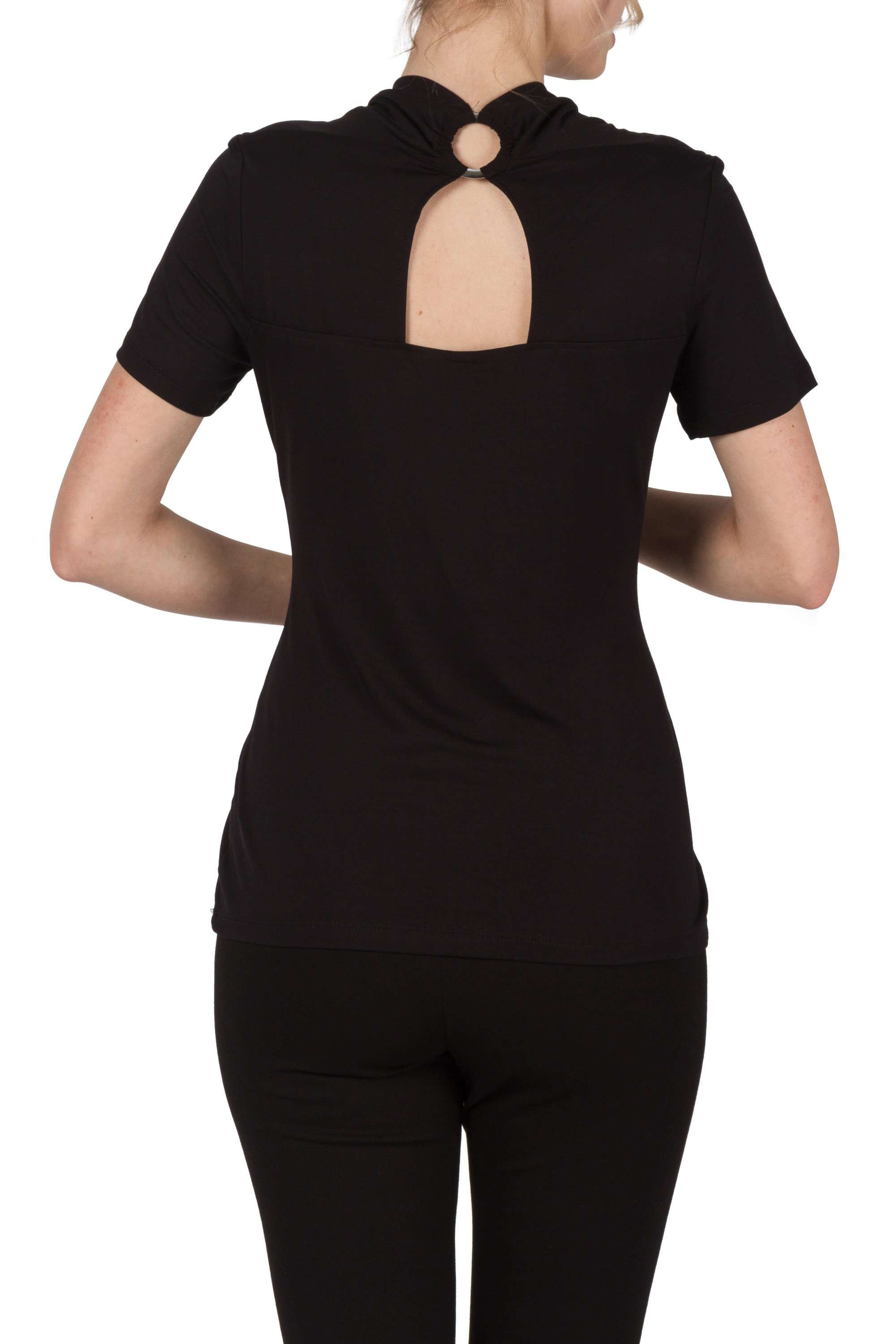 Black Short Sleeve Top on Sale Made in Canada - Yvonne Marie - Yvonne Marie