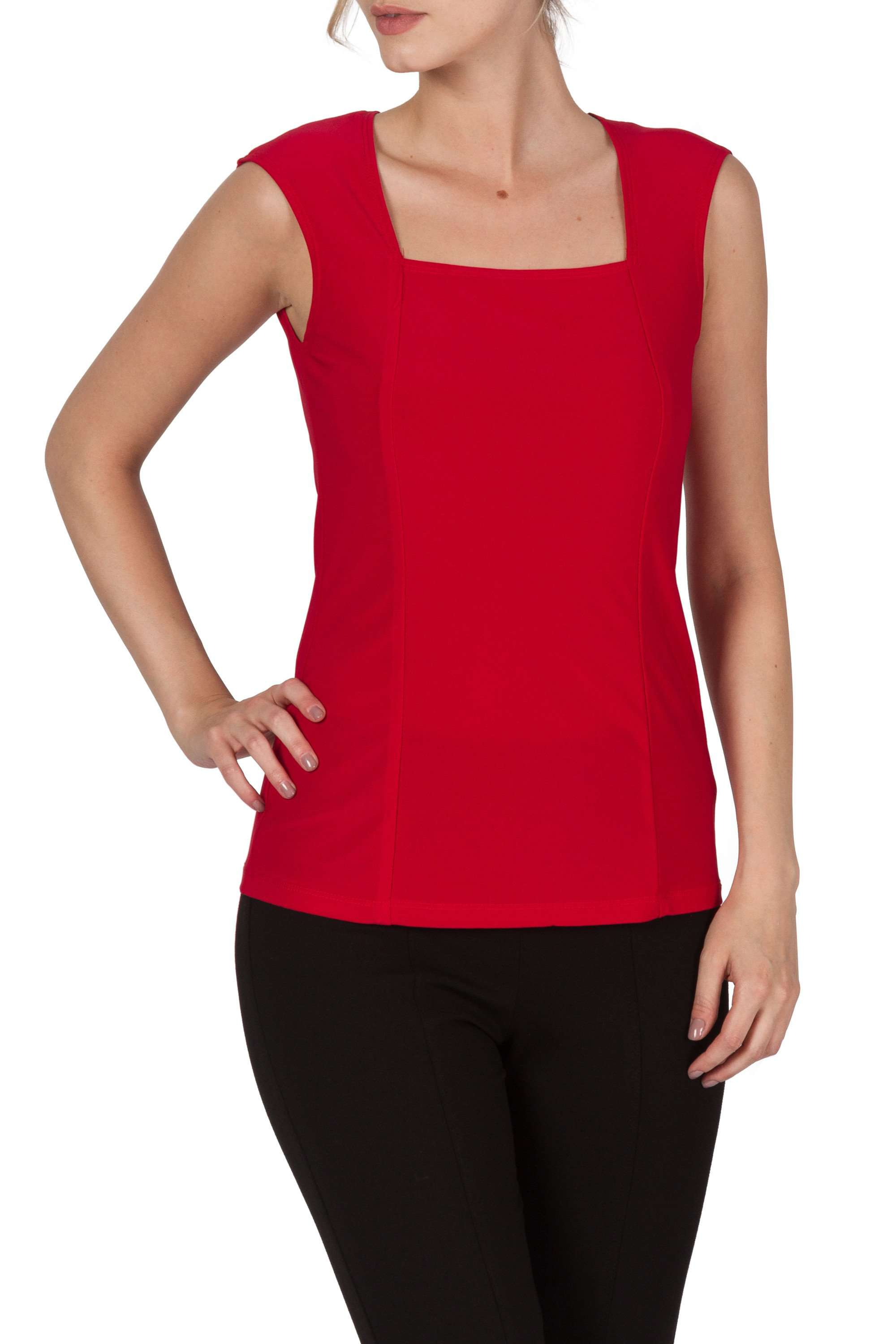 Red Camisole Tank Top Quality Knit Fabric-Comfort Guaranteed-made in Canada - Yvonne Marie