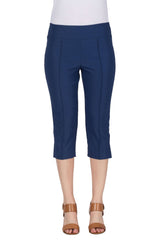 Women's Capri's Canada | Denim Blue Stretch Capri's | On Sale | YM Style - Yvonne Marie