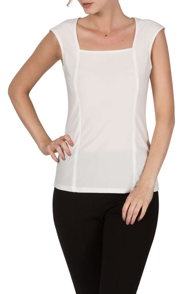 Camisole Ivory Quality Knit Fabric Made in Canada