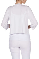 Women's White Bolero Jacket Made In Canada-Shop Local - Yvonne Marie - Yvonne Marie