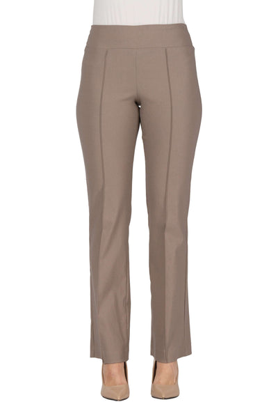 Women's Taupe Stretch Pants - Our Miracle Fit