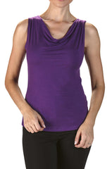 Camisole Purple Violet-Draped Neckline-On Sale Now - Yvonne Marie