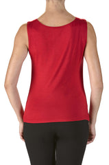 Camisole Red Draped Neckline-On Sale Now - Yvonne Marie
