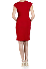Women's Red Power Dress - Yvonne Marie