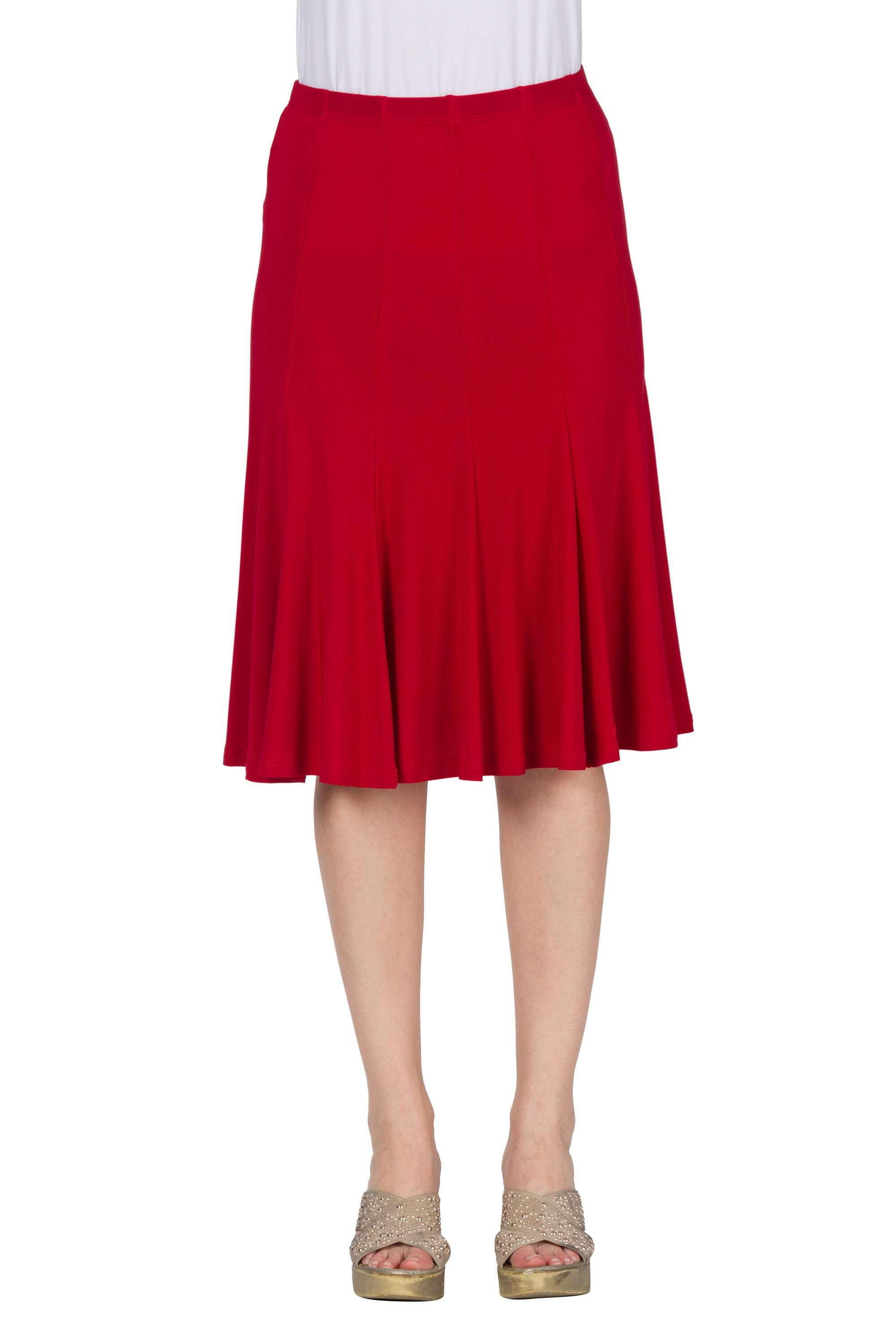 Skirt Red Gored Best Fit - Yvonne Marie