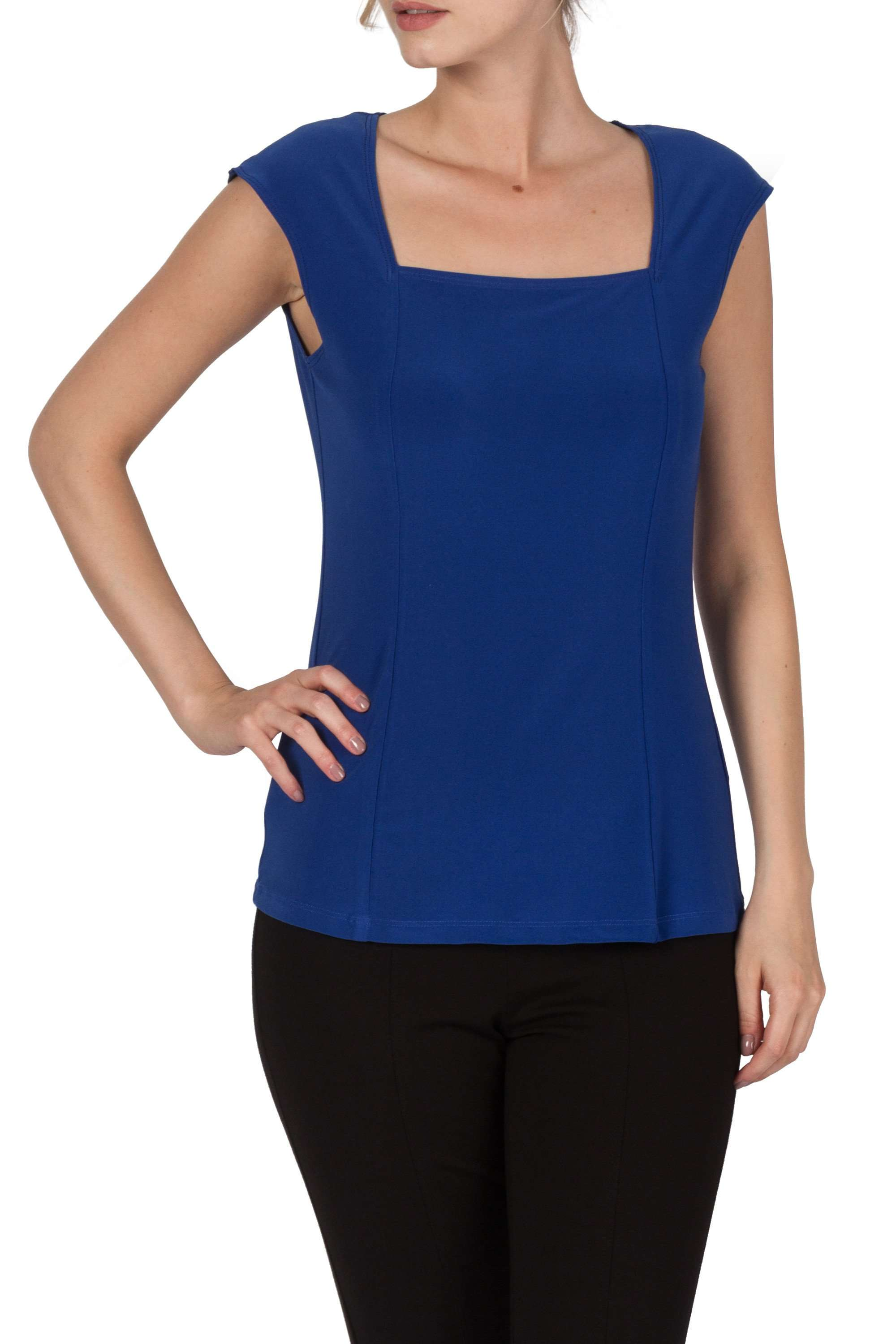Camisole Royal Blue-Square Neckline-Great Fit - Yvonne Marie