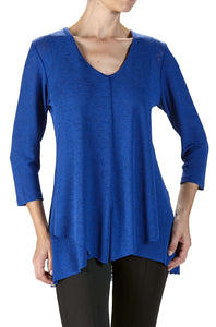 Women's Long Royal Blue Tunic - Yvonne Marie - Yvonne Marie