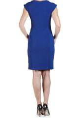 Dress in Royal Blue Quality Textured Knit Fabric-Super Flattering for all Sizes-Made in Canada - Yvonne Marie