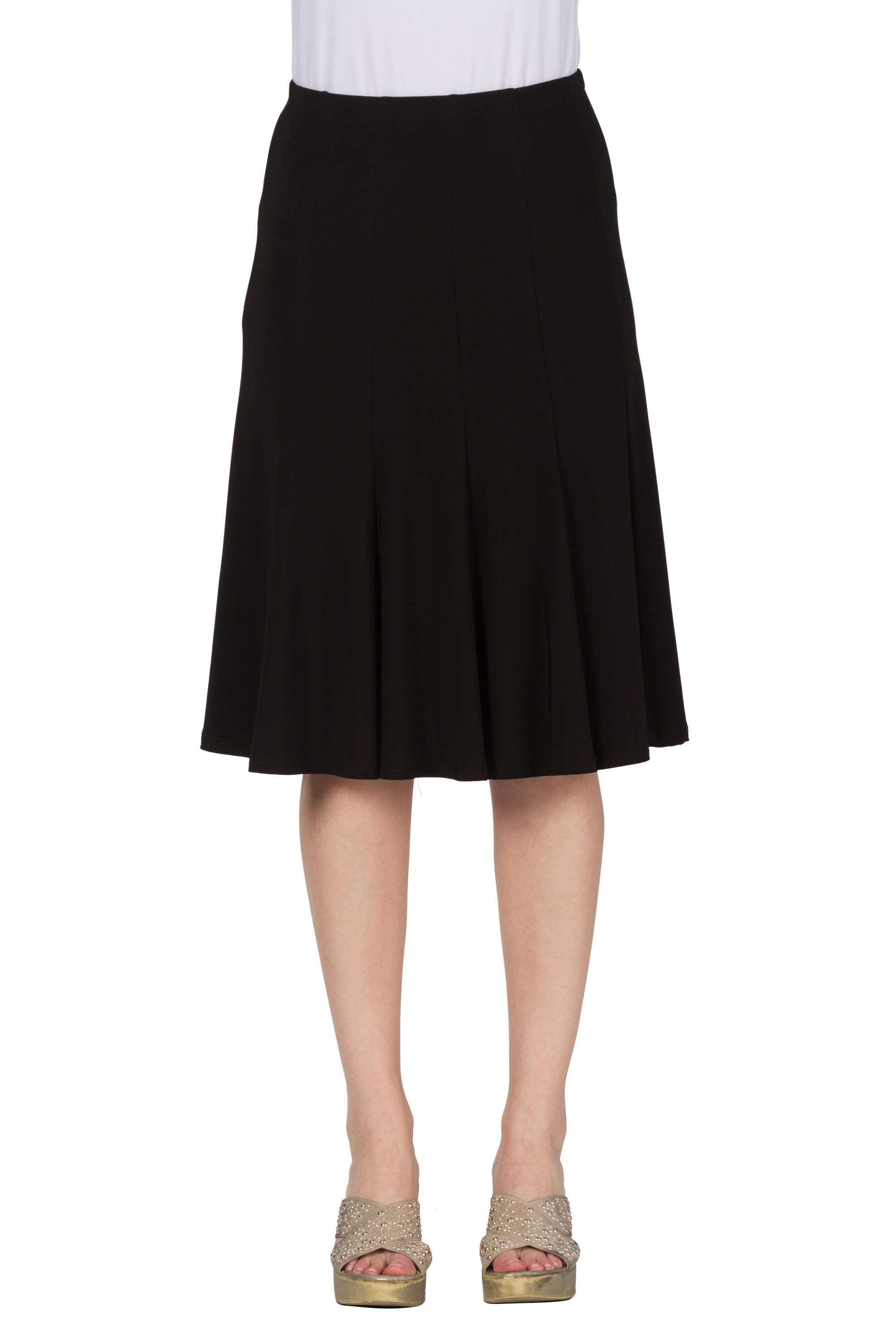 Women's Black Flared Skirt - Yvonne Marie - Yvonne Marie