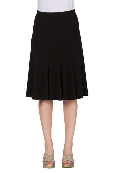 Skirt Black Quality Stretch Knit Fabric Flattering Fit Made in Canada