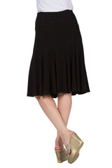 Women's Skirts Canada | Black Skirt Flared | On Sale | YM Style - Yvonne Marie
