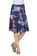 Women's Skirts Canada | Denim Print Skirt | on Sale | YM Style - Yvonne Marie