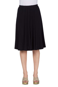 Women's Black Flared XL Skirt - Yvonne Marie