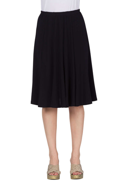 Skirt Navy Flattering Gored Panels Best Seller