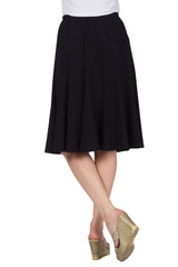 Skirt Navy Flattering Gored Panels Best Seller - Yvonne Marie