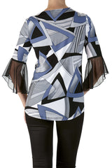 Top Cut Out Neckline with bell Sleeve Comfort and Quality-Made in Canada - Yvonne Marie
