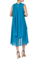 Dress Turquoise Chiffon for Special Events - Yvonne Marie