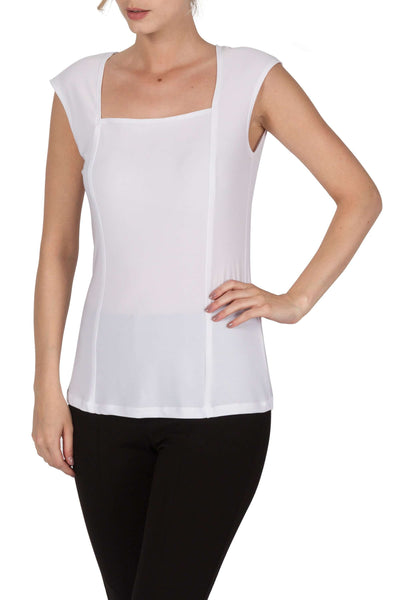White Camisole Tank Top-Quality Knit Fabric-Great Fit -Made in Canada