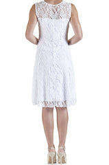 White Lace Dress - Fit and Flare - Yvonne Marie