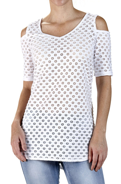 Women's White Top On Sale Flattering Fit - Made in Canada