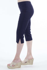 Women's Navy Stretch Capri - Yvonne Marie