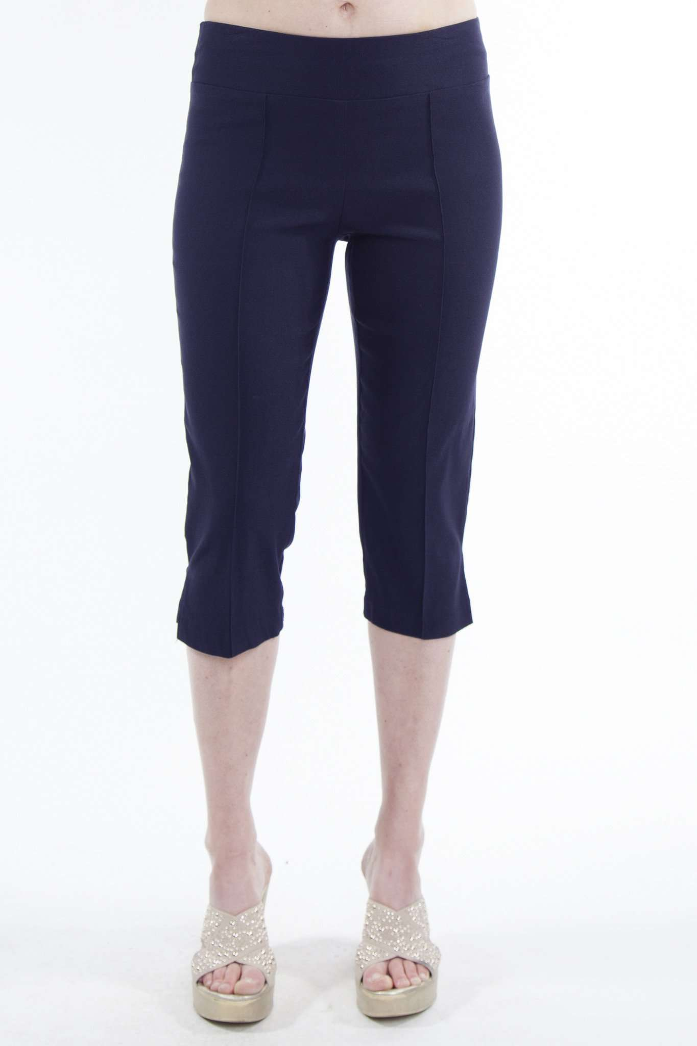 Navy Capri Miracle Fit - Yvonne Marie