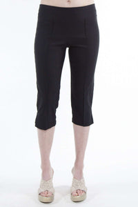 Women's Black Stretch Capri - Yvonne Marie