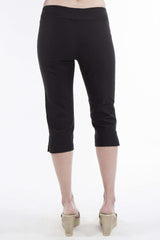 Capri Black Great Fitting Fabric-Flat Front Slimming Effect-Quality and Comfort-Made in Canada - Yvonne Marie