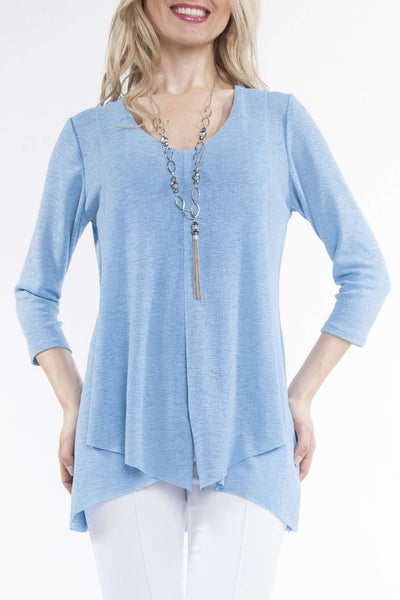 Women's Tunics On Sale | Blue Tunic Top | Flattering Design | YM Style
