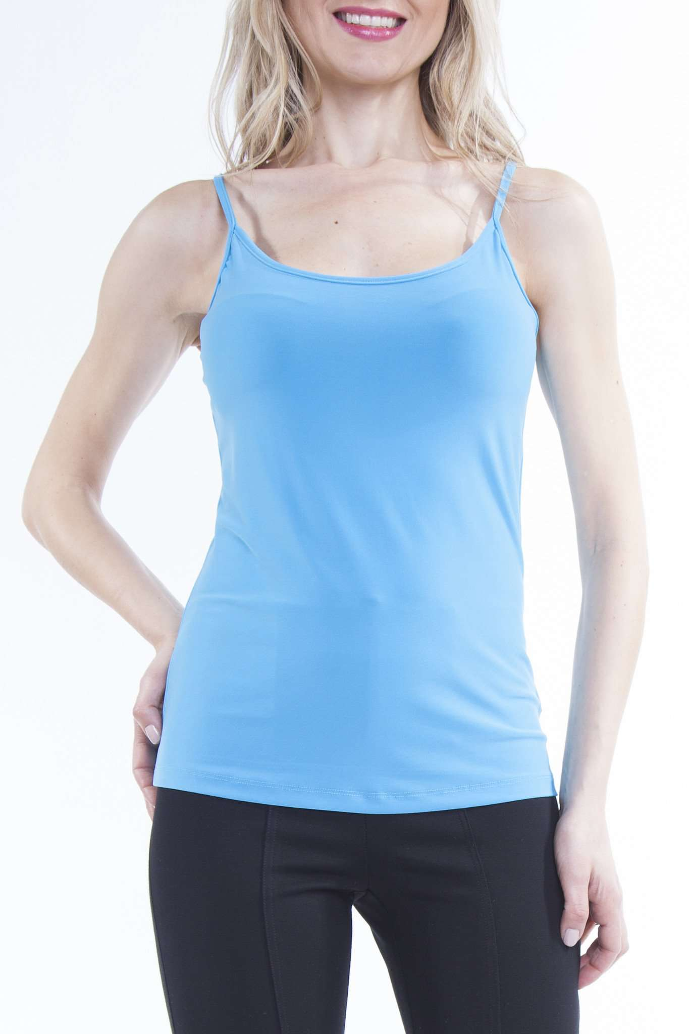 Women's Turquoise Spagetti Strap Camisole - Yvonne Marie - Yvonne Marie