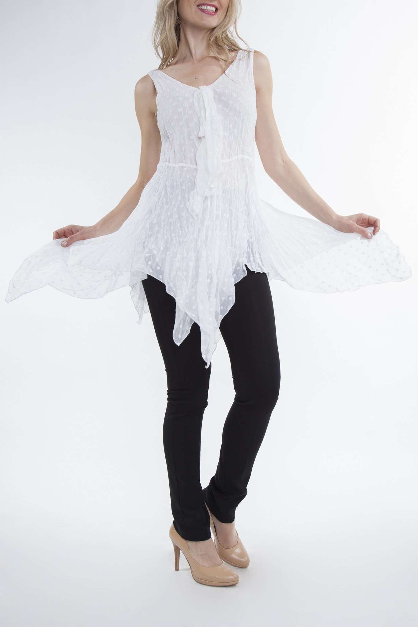 Women's Off White Tunic Top - Yvonne Marie - Yvonne Marie