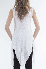 White Layered Tunic Blouse Great for Travel - Yvonne Marie