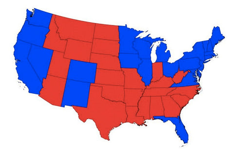 Red States Blue States Maps Explained Map Resources