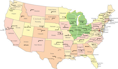 PowerPoint Maps World US States and Countries Map Resources