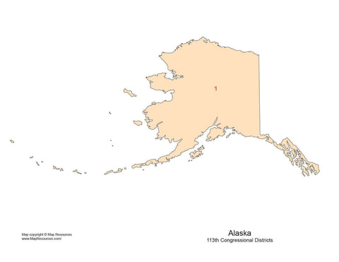 Digital AK Map with Congressional Districts