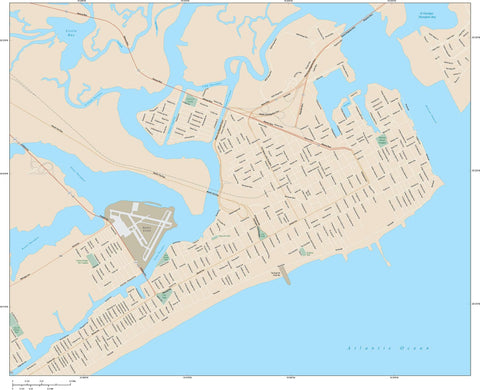 Atlantic City Map Adobe Illustrator vector format ALC-XX-984865