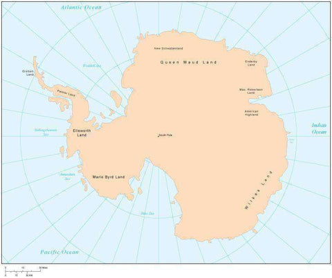 Digital Antarctica Single Color Map