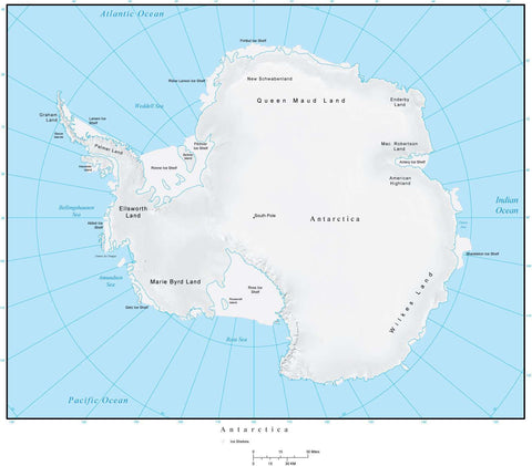 Antarctica Terrain map in Adobe Illustrator vector format and more ANTARC-952829