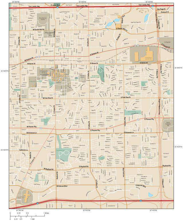 Map Of Arlington Texas.Arlington Map Tx Local Road Map In Adobe Illustrator Format Map