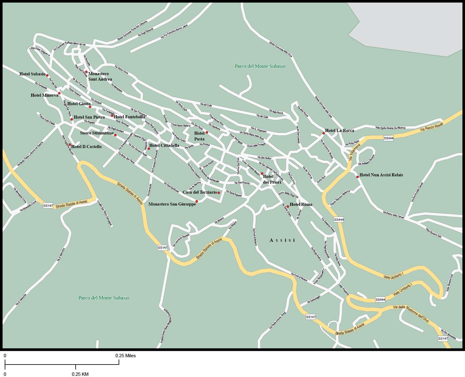 Assisi Map Adobe Illustrator Vector Format Map Resources