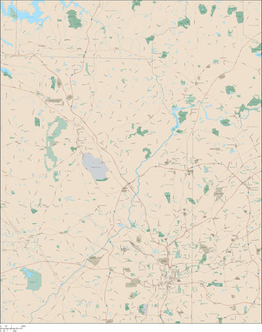 Atlanta GA - 720 Square Mile Area Map with Major Roads