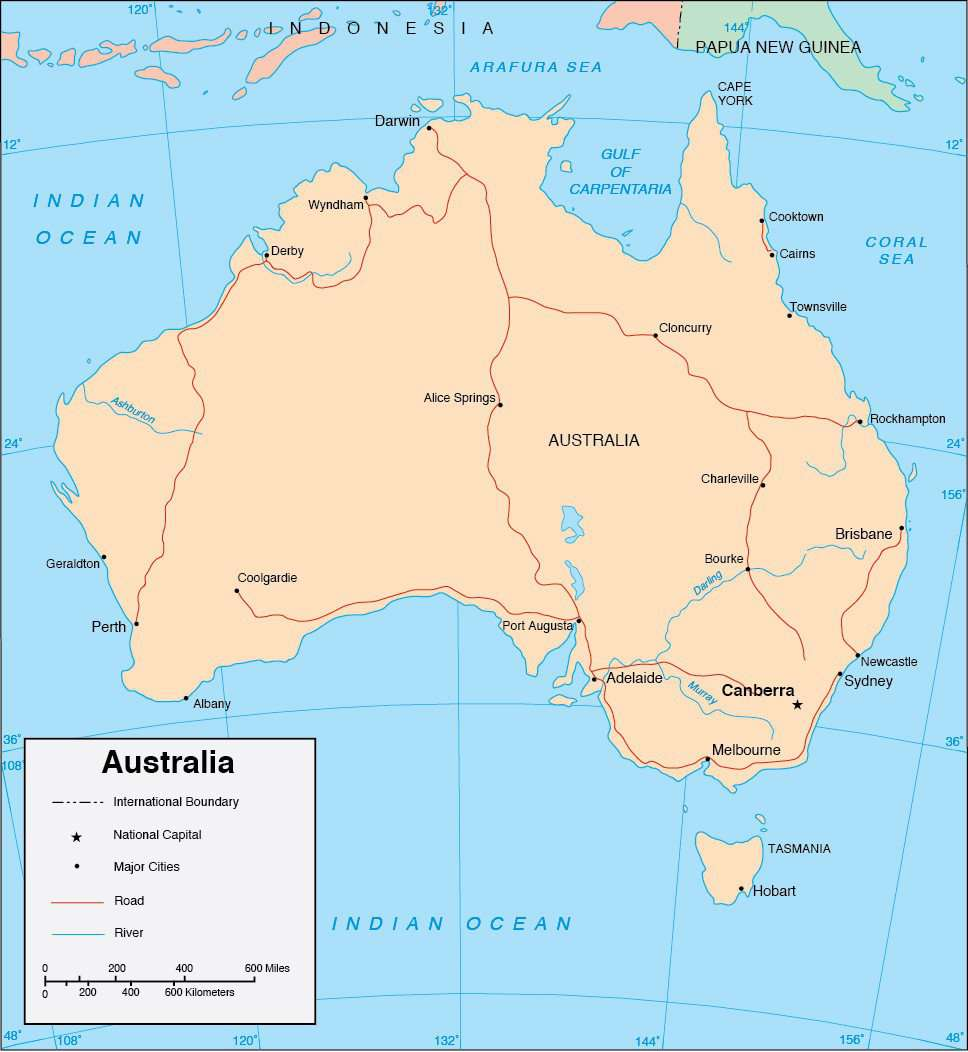 Major Cities In Australia Map.Australia Map