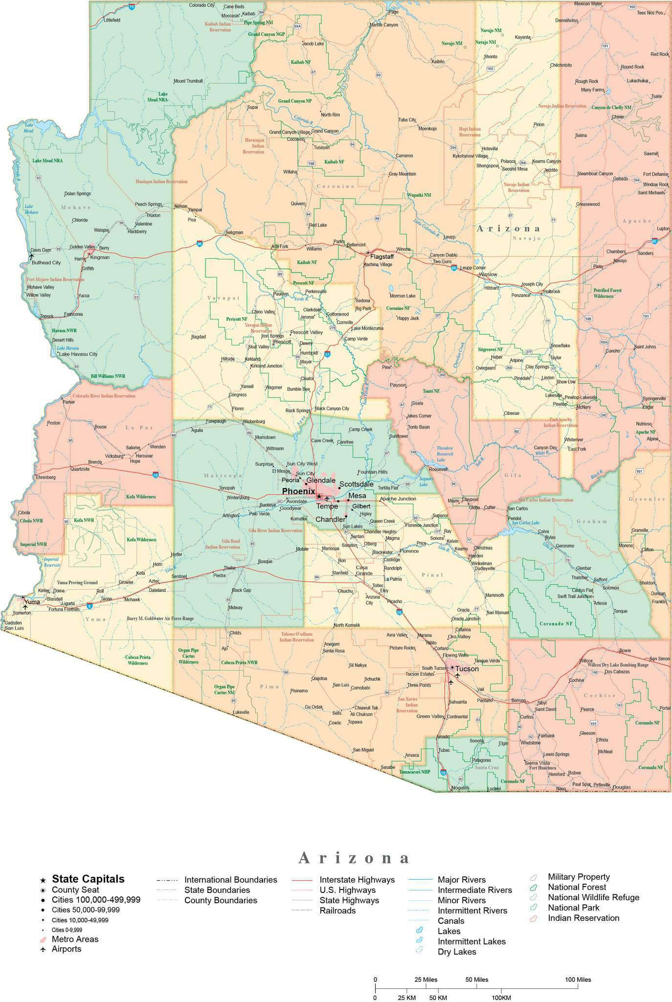 Detailed Arizona Cut-Out Style Digital Map with Counties, Cities, Highways, on driving map of arizona, route 40 arizona, i-10 arizona, highway map of southern arizona, full map of arizona, map of south tucson arizona, freeway map of arizona, interstate 269 map, trail map of arizona, map of california and arizona, map of sun lakes arizona, old road maps arizona, fault line map of arizona, interstate 10 arizona, us road map arizona, map of interstate 40 arizona, state highway map of arizona, arizona state map of arizona, map of 202 loop arizona, interstates in arizona,