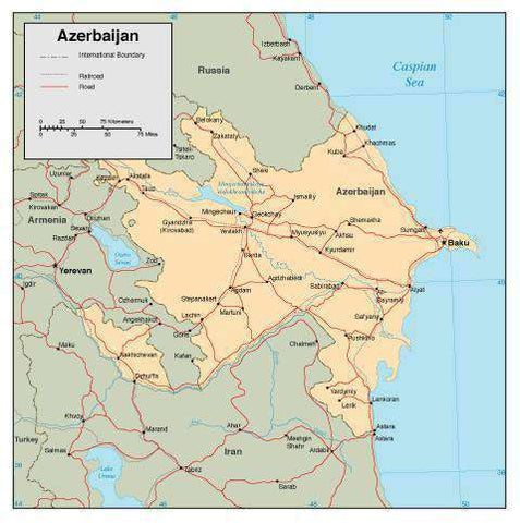 Azerbaijan Page Size Digital Map