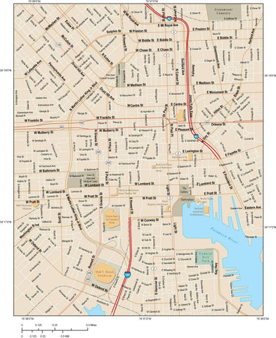 Baltimore Map Adobe Illustrator vector format BLT-XX-984783